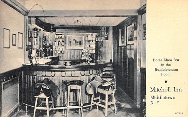 Horse Shoe Bar, Hambletonian Room Middletown, New York Postcard