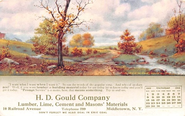 HD Gould Company Middletown, New York Postcard