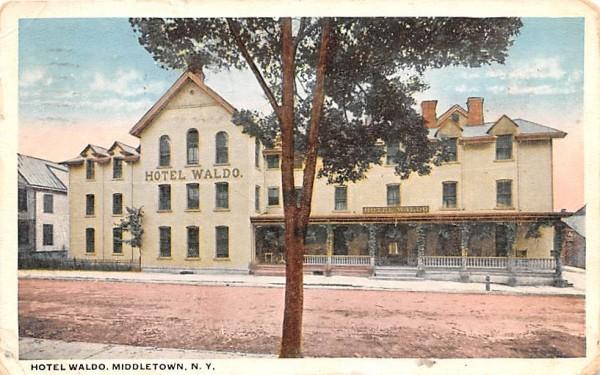 Hotel Waldo Middletown, New York Postcard