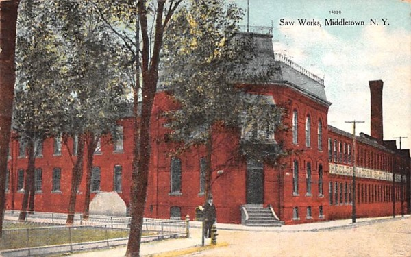 Saw Works Middletown, New York Postcard