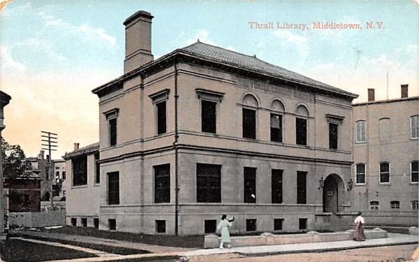 Library Middletown, New York Postcard