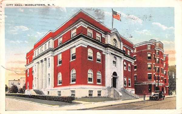 City Hall Middletown, New York Postcard
