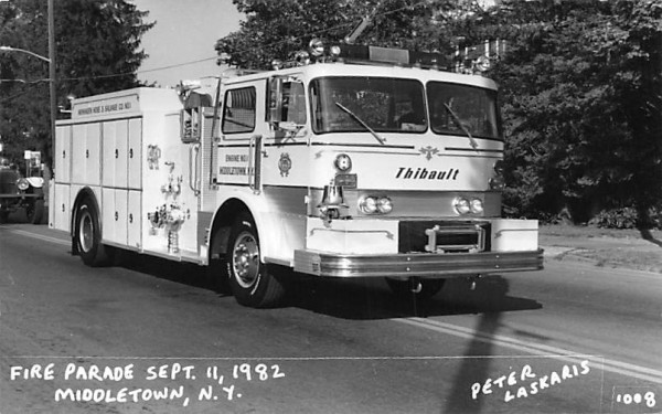 Fire Parade Sept 11, 1982 Middletown, New York Postcard