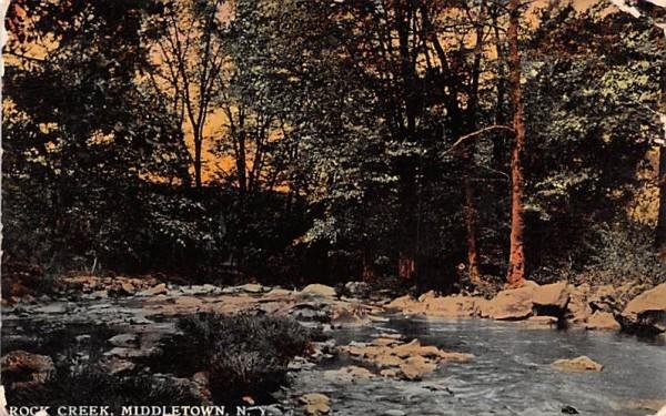 Rock Creek Middletown, New York Postcard