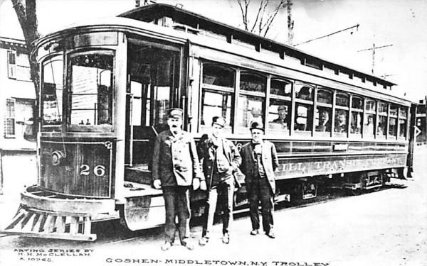 Goshen, Middletown NY Trolley New York Postcard