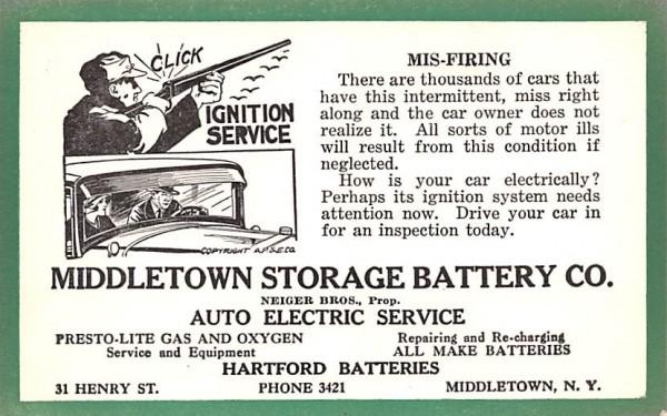 Middletown Storage Battery Co New York Postcard