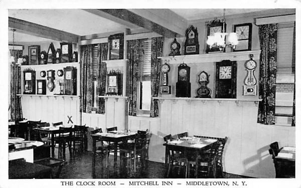 Clock Room Middletown, New York Postcard