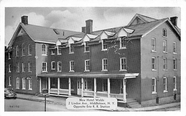 New Hotel Waldo Middletown, New York Postcard