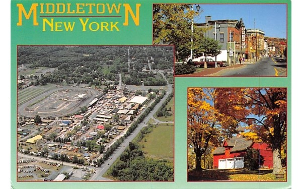 Downtown Looking from North Street Middletown, New York Postcard