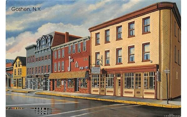 Goshen Office Supply Middletown, New York Postcard