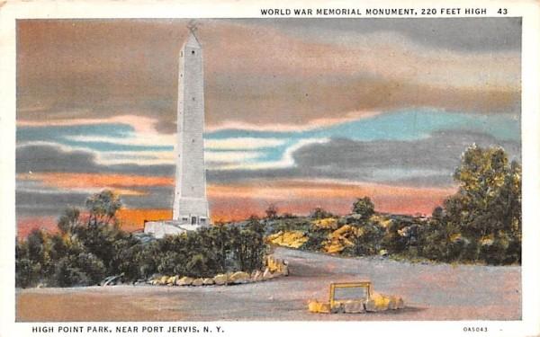 World War Memorial Monument Middletown, New York Postcard