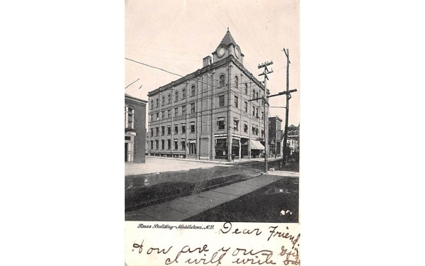 Times Building Middletown, New York Postcard
