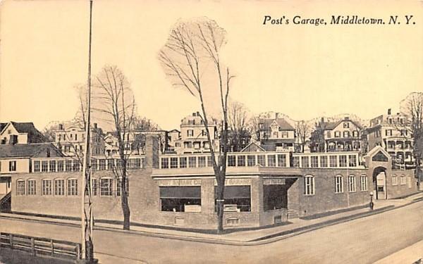 Post's Garage Middletown, New York Postcard