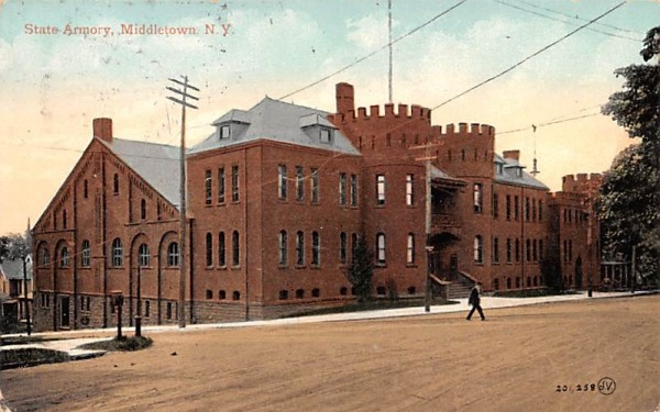 State Armory Middletown, New York Postcard