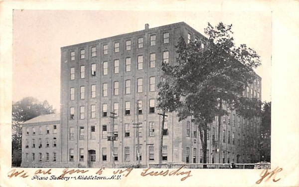 Piano Factory Middletown, New York Postcard
