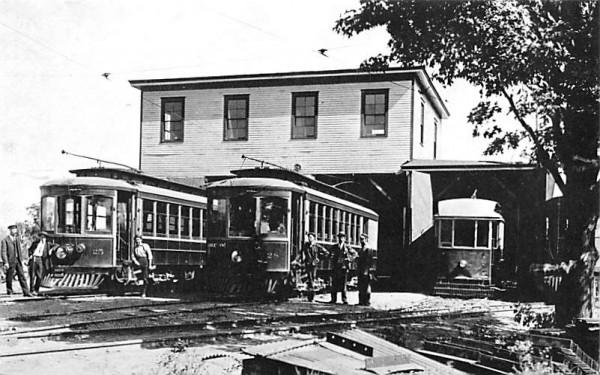 Trolley barns Middletown, New York Postcard