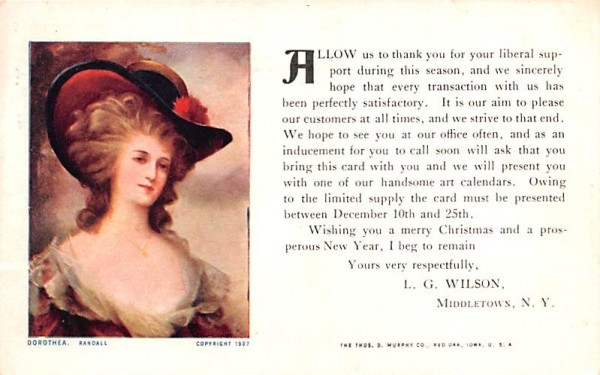 Dorothea Middletown, New York Postcard