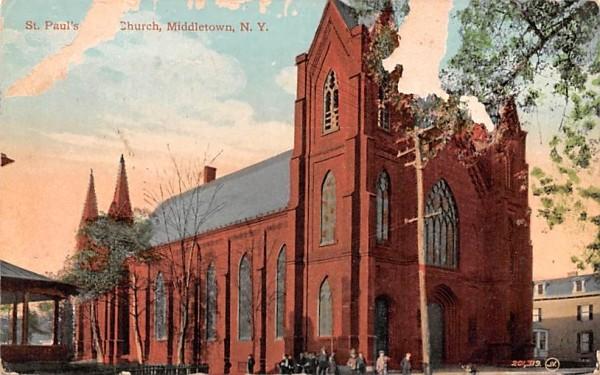 St Paul's Church Middletown, New York Postcard