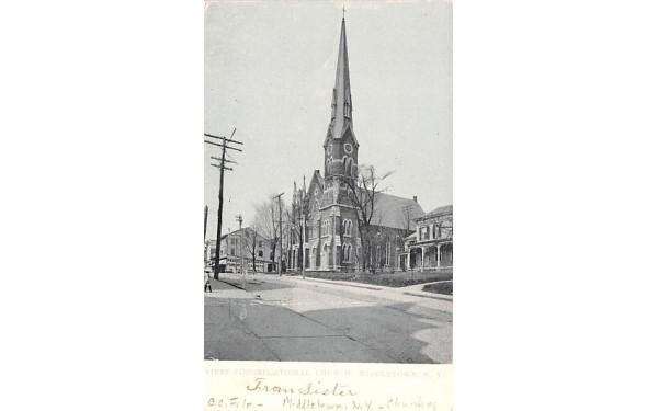 First Congregational Church Middletown, New York Postcard