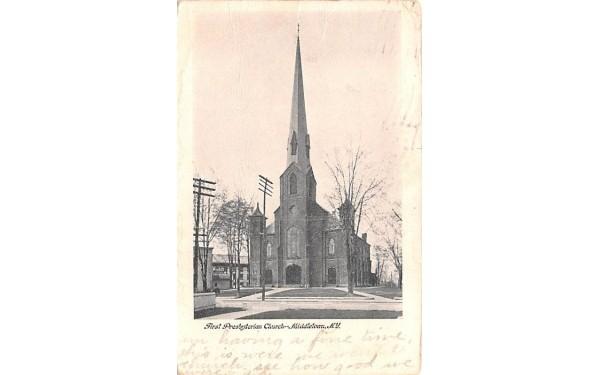 First Presbyterian Church Middletown, New York Postcard