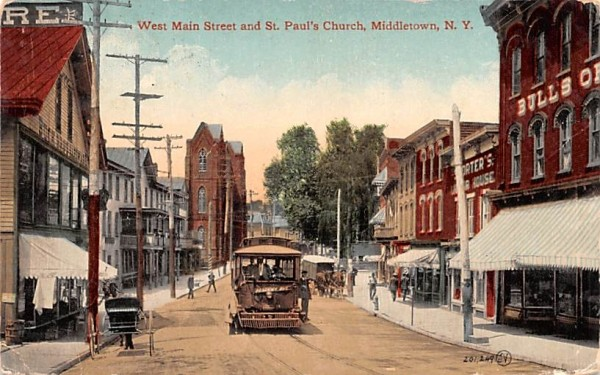 West Main Street Middletown, New York Postcard