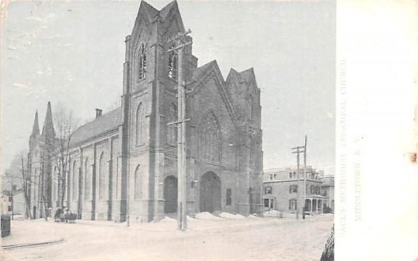 Paul's Methodist Episcopal Church Middletown, New York Postcard