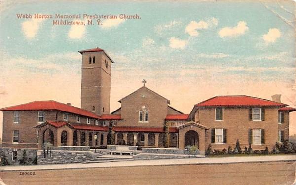 Webb Horton Memorial Presbyterian Church Middletown, New York Postcard