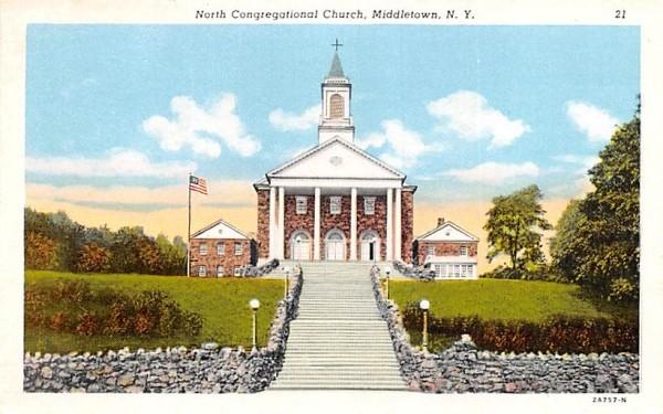 North Congregational Church Middletown, New York Postcard