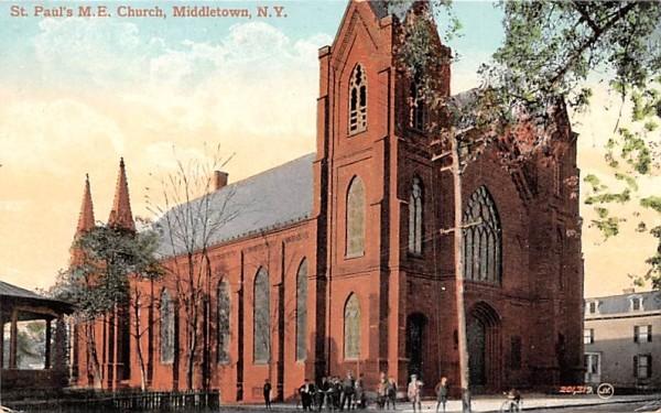 St Paul's ME Church Middletown, New York Postcard
