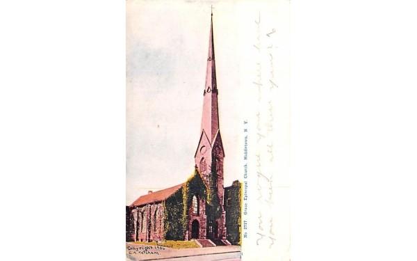 Grace Episcopal Church Middletown, New York Postcard