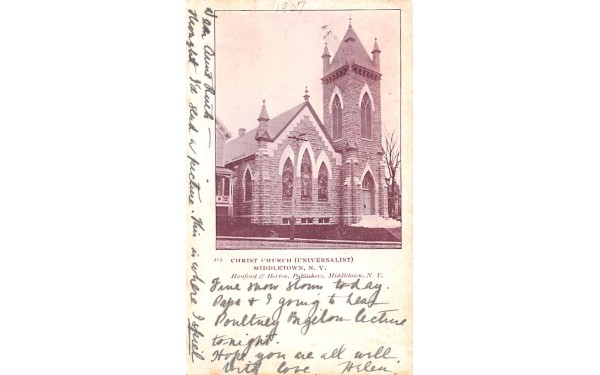 Crist Church Universalist Middletown, New York Postcard