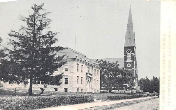 St Joseph's Roman Catholic Church Middletown, New York Postcard
