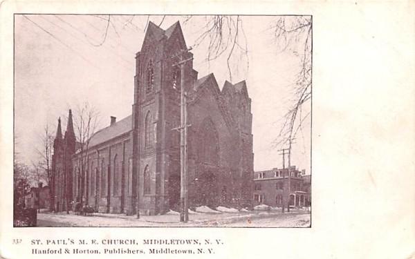 St Paul's Methodist Episcopal Church Middletown, New York Postcard