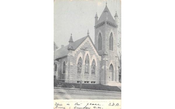 Universalist Church Middletown, New York Postcard
