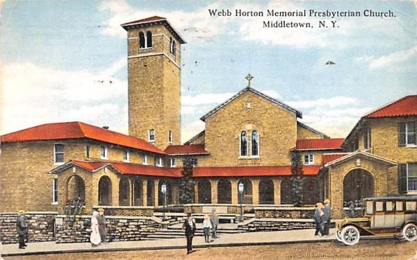 Memorial Presbyterian Church Middletown, New York Postcard