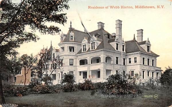 Residence of Webb Horton Middletown, New York Postcard