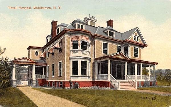 Thrall Hospital Middletown, New York Postcard