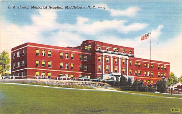 EA Horton Memorial Hospital Middletown, New York Postcard