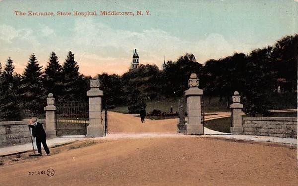 State Hopsital Middletown, New York Postcard