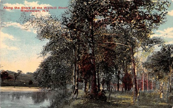 Along the Shore of the Wallkill River Middletown, New York Postcard