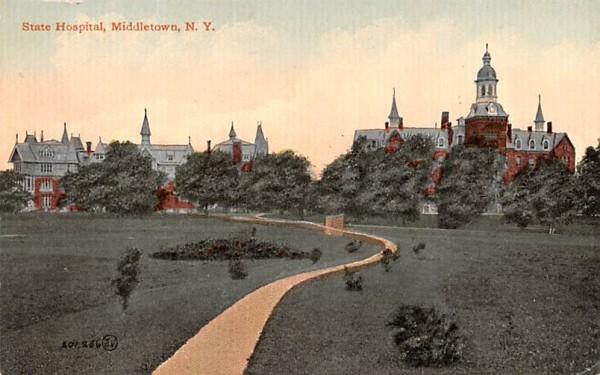 State Hospital Middletown, New York Postcard