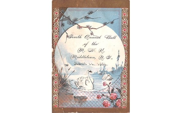 Fouth Annual Ball Middletown, New York Postcard