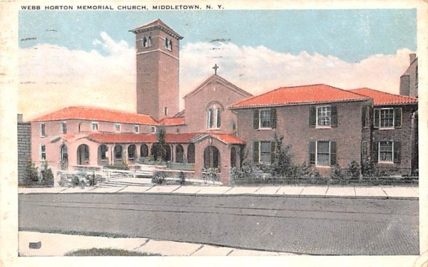 Webb Horton Memorial Church Middletown, New York Postcard