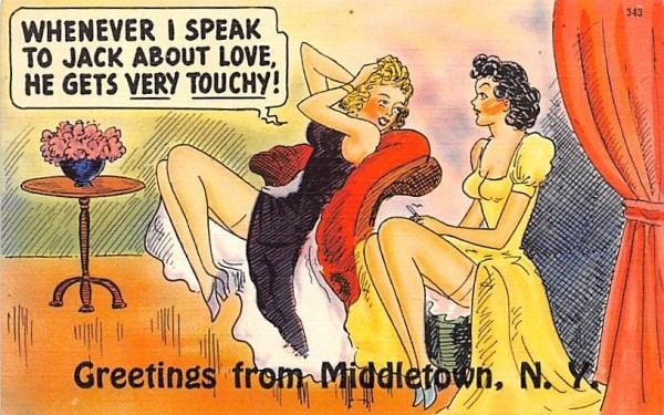 Greetings Middletown, New York Postcard