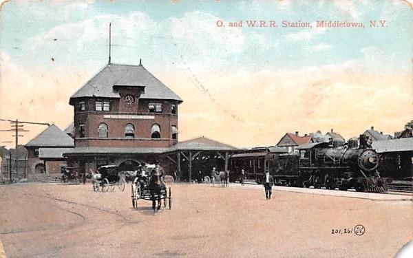 O & WRR Station Middletown, New York Postcard