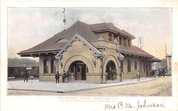 Railroad Station Middletown, New York Postcard