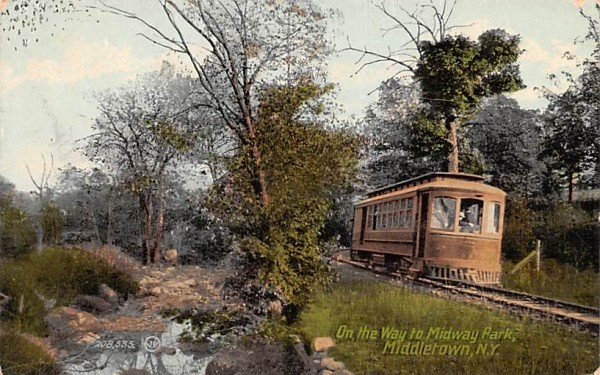On the Way to Midway Park Middletown, New York Postcard