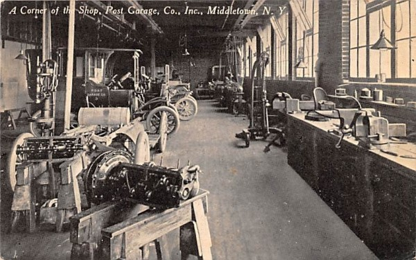 Post Garage Company Middletown, New York Postcard