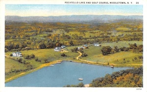 Pocatello Lake & Golf Course Middletown, New York Postcard
