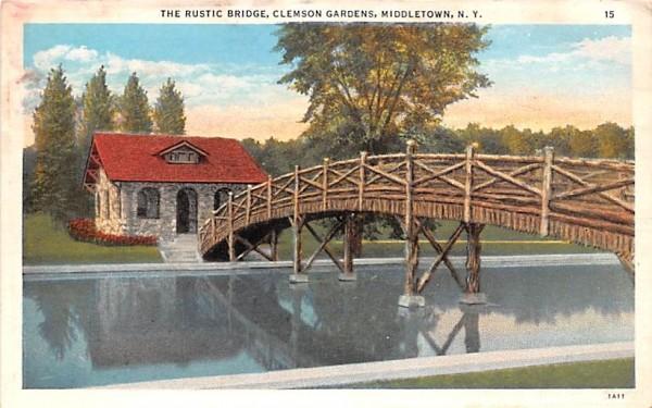 Rustic Bridge Middletown, New York Postcard